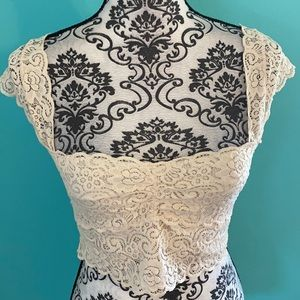 Intimately Free People Lace Low Cut Sexy Crop Top